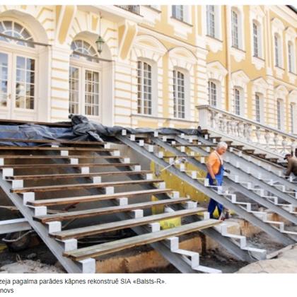 Rundāles pils muzeja pagalma parādes kāpnes